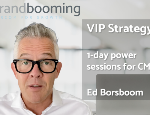 VIP Strategy Day: 1-day power sessions for CMO's and teams to grow market share with Marcom.